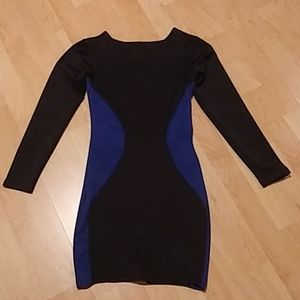 LBD with Blue Silhouette